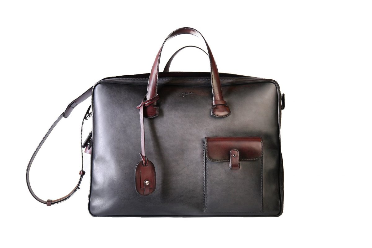 bags LA QUARANTOTTO - PIUMA - TAUPE SF. BLACK